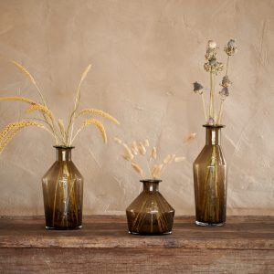 Zaani Glass Vase - Coffee Brown