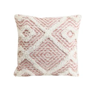 Udim 45 x 45cm Pillow - Pink and White